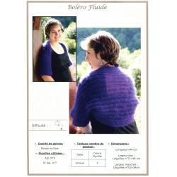 Fiche tricot :  Boléro Fluide