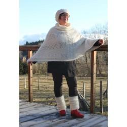 poncho tricoté en Mohair