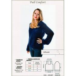 Fiche Tricot: Pull Confort